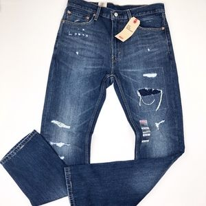 Levis | 34X34 513 Slim Straight Distressed Jeans